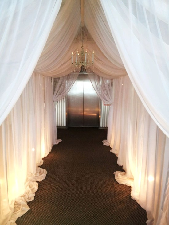 Enclosure Uplighted Wedding Reception