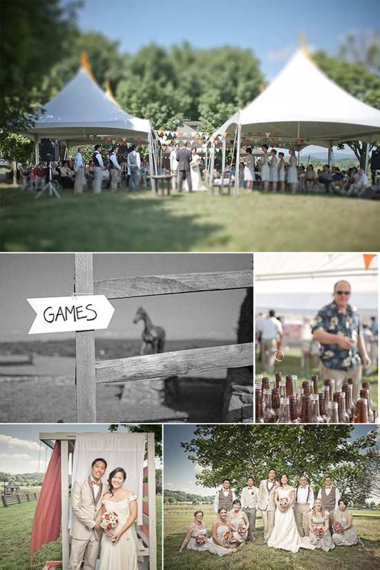 Custom wedding reception signs, fun games for wedding guests