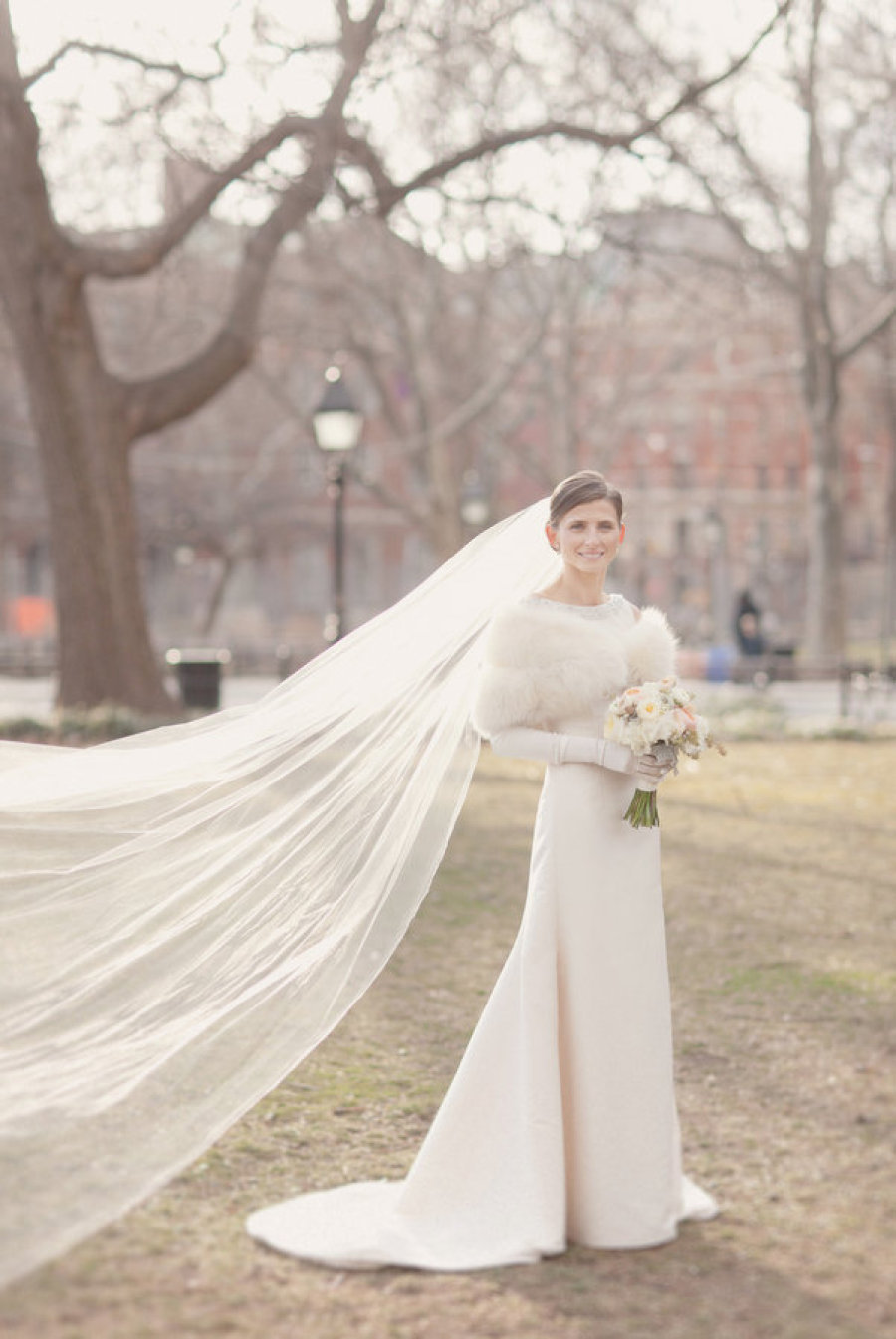 city chic bridal style for fall or winter
