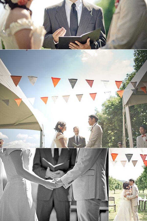 Outdoor-summer-wedding-ivory-wedding-dress-khaki-suit-for-groom-outdoor-ceremony.full