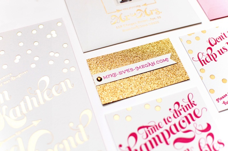 Gold-and-silver-foil-stamped-wedding-invites-with-pink-accents.full