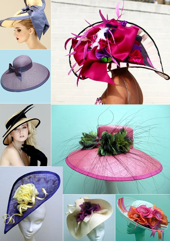 Kentucky Derby wedding theme- hats for Spring and Summer weddings