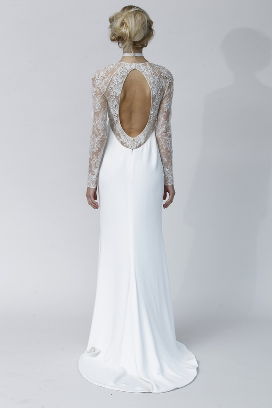 Glamorous Open Back Wedding Dress