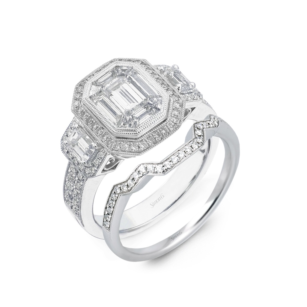 a band palladium ring platinum matte classic with engagement solitaire becf products straight round bands w bezel gold diamond setting and or sapphire in