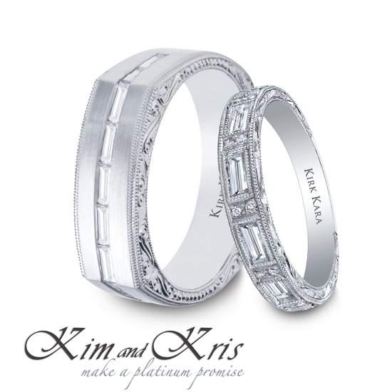 Kim Kardashian and Kris Humphries's wedding bands