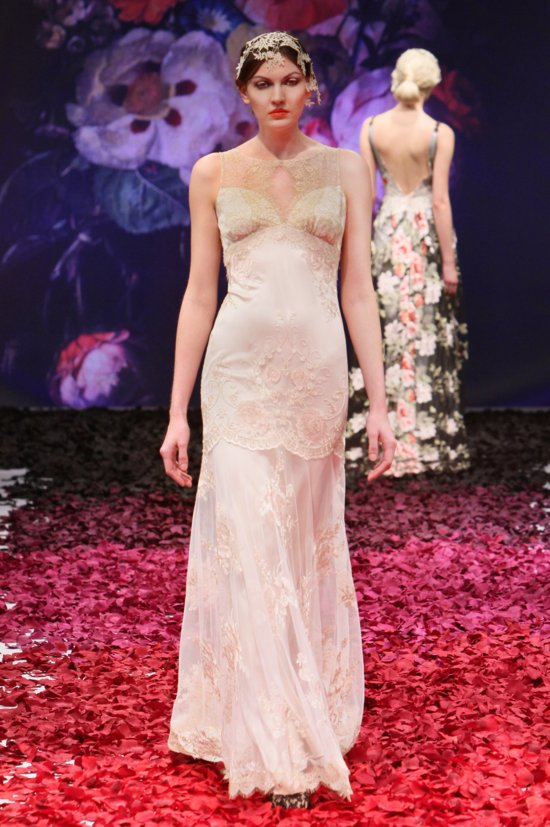 Ambrosia wedding dress by Claire Pettibone 2014 Still Life bridal collection