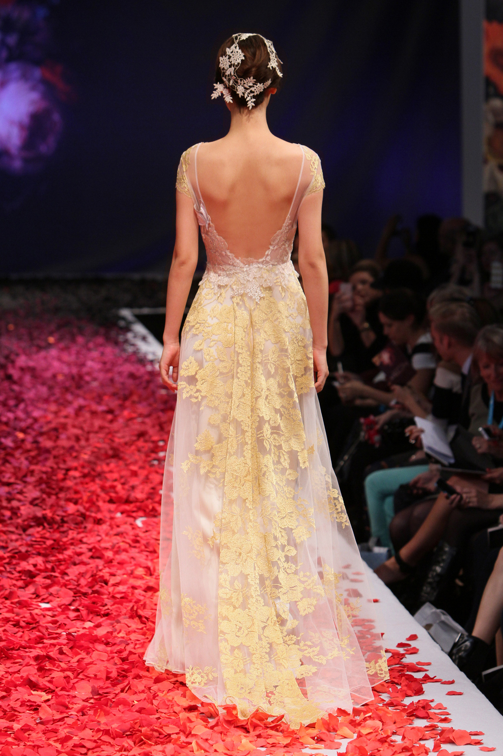Amber wedding dress by Claire Pettibone 2014 Still Life bridal collection