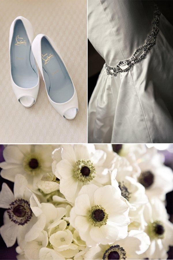 Peep-toe-wedding-shoes-anemone-wedding-flowers-black-white-wedding-dress.full
