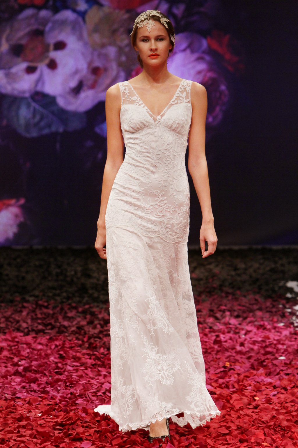 Iris wedding dress by Claire Pettibone 2014 Still Life bridal collection