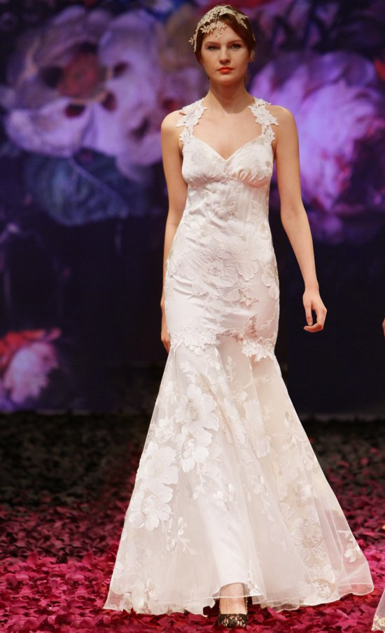 Mariposa wedding dress by Claire Pettibone 2014 Still Life bridal collection
