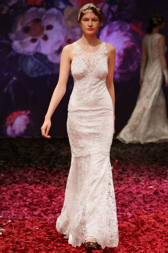 Poppy wedding dress by Claire Pettibone 2014 Still Life bridal collection