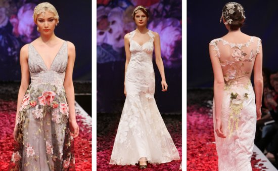 Claire Pettibone Fall 2014 wedding gowns