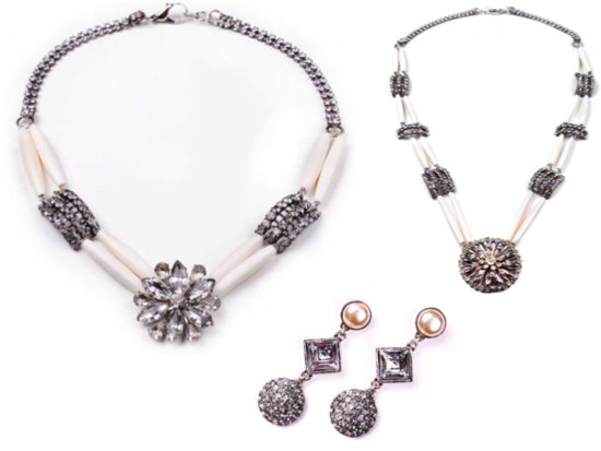 Elegant vintage wedding jewelry- statement bridal necklace and earrings