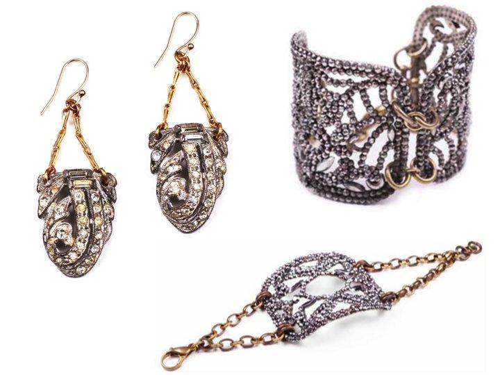 Elegant-vintage-wedding-accessories-bridal-earrings-cuff-bracelet.full