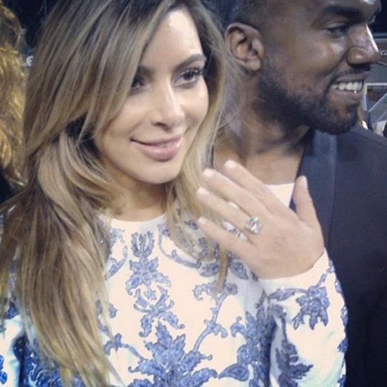 photo of Kim Kardashian engaged to Kanye West celebrity wedding news 1
