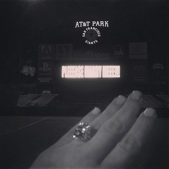 photo of Kim Kardashian engaged to Kanye West celebrity wedding news 1