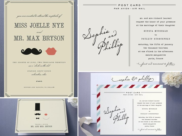 Whimsical and budget-friendly wedding invitations