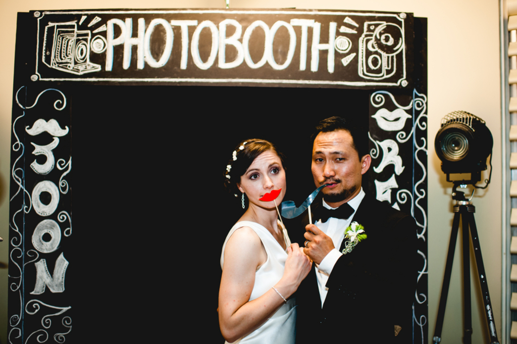 Retro Wedding Photo Booth Sign For The Reception
