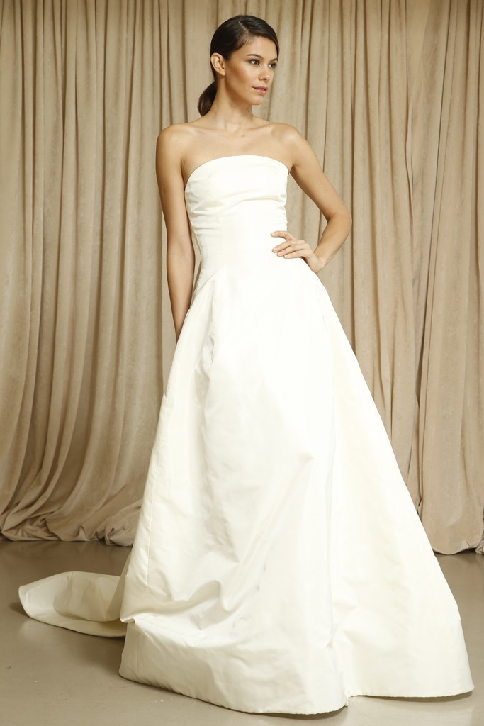 Classic a line strapless wedding dress junglespirit Gallery