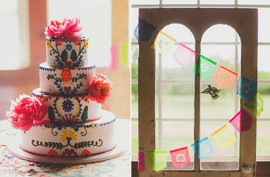 Day of the Dead bright wedding inspiration