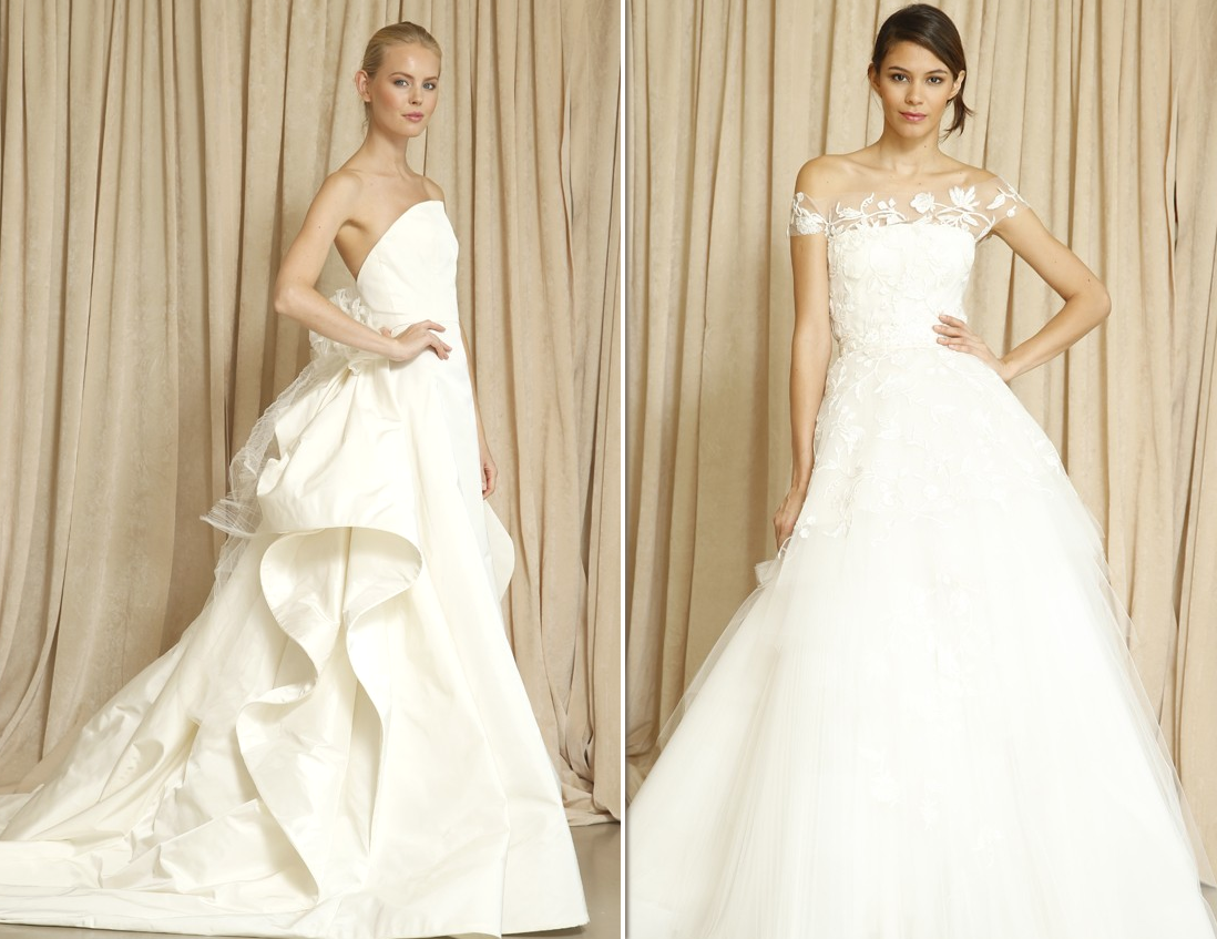 dresses designer oscar renta wedding