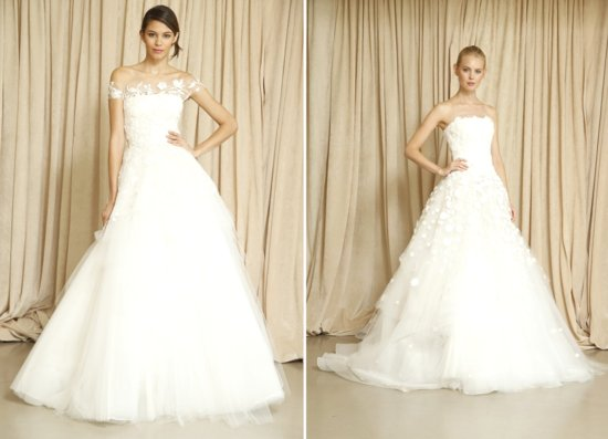 Oscar de la renta wedding gowns Fall 2014 bridal