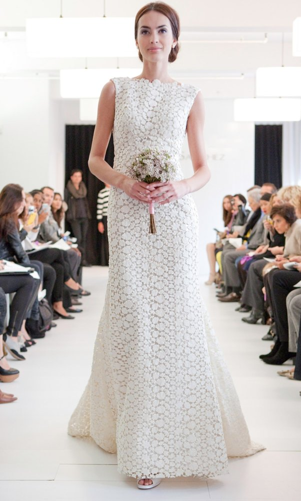 Lace wedding dress by Angel Sanchez