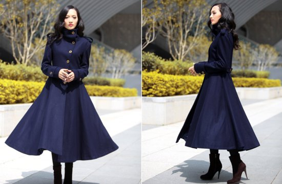 Deep navy military inspired wedding coat