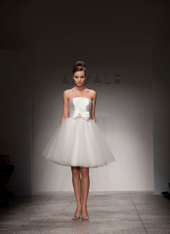 Little white dress by Amsale, perfect for your wedding reception