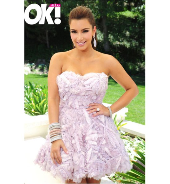 Kim Kardashian wears cotton candy pink gown to bridal shower
