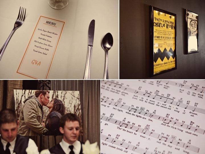 Modern Wedding Reception Menues Music Themed Wedding Decor