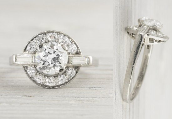 photo of 45 Dazzling Art Deco Engagement Rings