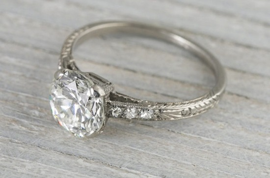 art deco engagement ring with 1 55 carats