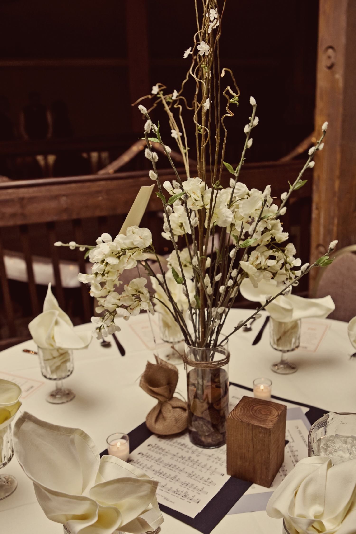 Wedding Reception Rustic Centerpieces: Rustic wedding reception ...