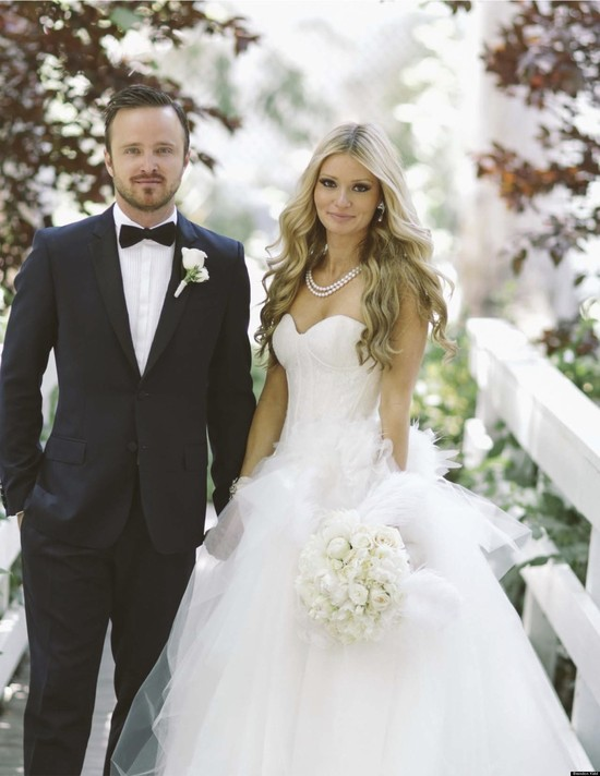 Breaking Bads Aaron Paul ties the knot in style