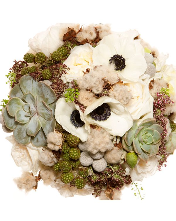 Eco-chic bridal bouquet