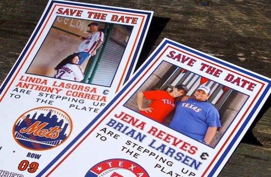 Photo wedding save the date for baseball lovers