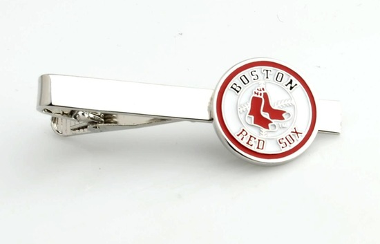 Boston Red Sox tie clip for baseball loving grooms