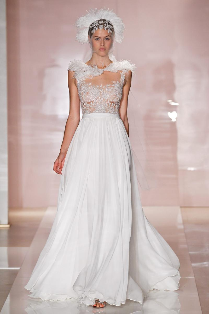 dana wedding dress by reem acra fall 2014 bridal onewedcom With reem acra wedding dress