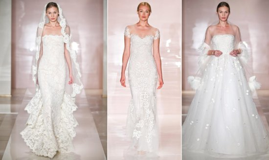Reem Acra wedding dress spotlight Fall 2014 bridal
