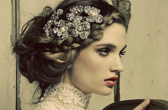 photo of Beautiful Maria Elena Wedding Headpieces and Jewelry