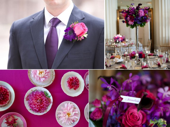 Pink And Purple Wedding Color Palette Ideas And Inspiration