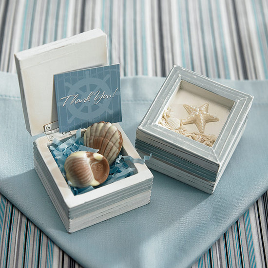 Beach Theme Wooden Favor Boxes