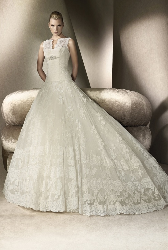 Lace ballgown San Patrick wedding dress, 2012
