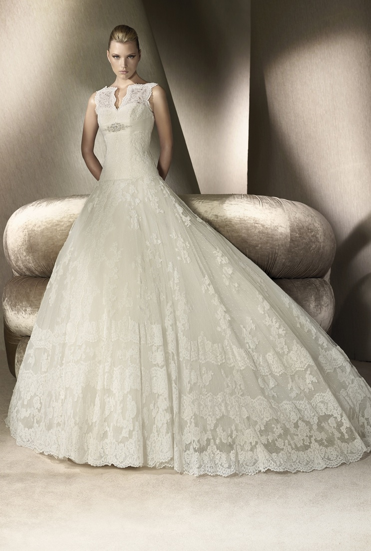 Lace ballgown san patrick wedding dress 2012 for Wedding dresses in san francisco