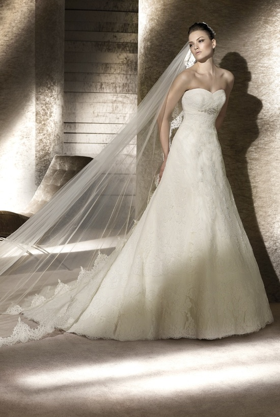 A-line lace San Patrick wedding dress, 2012 bridal gowns