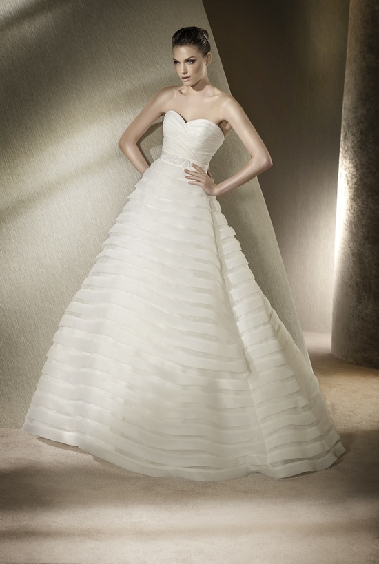 A-line wedding dress by San Patrick, 2012 collection
