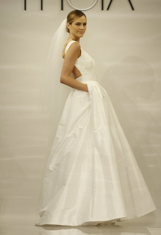 Open Back Ivory Wedding Dress