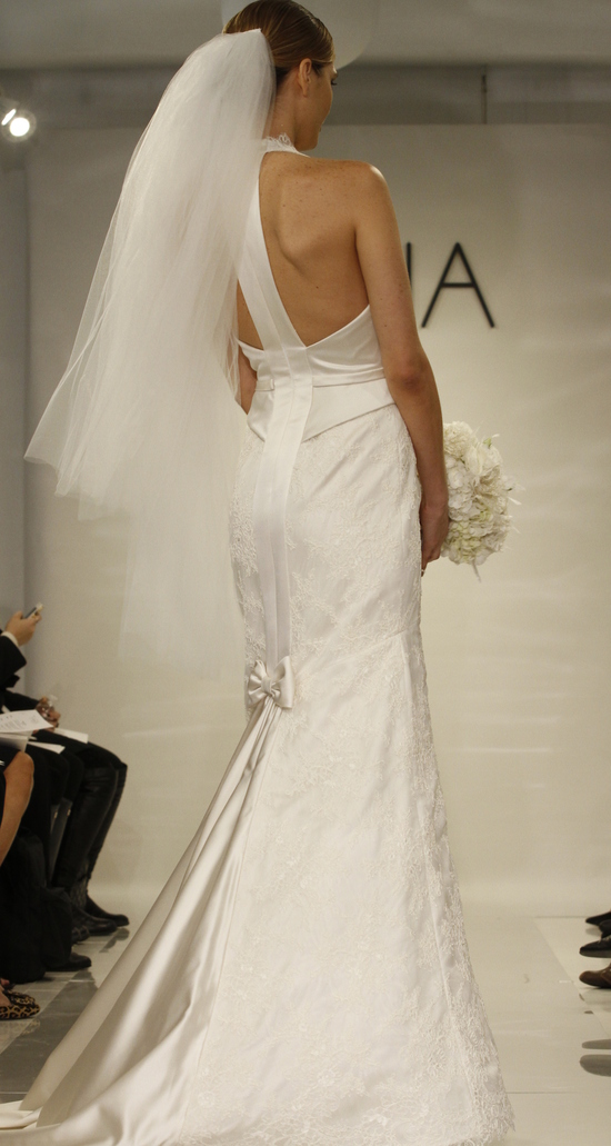 Deep V-Neck Wedding Dress
