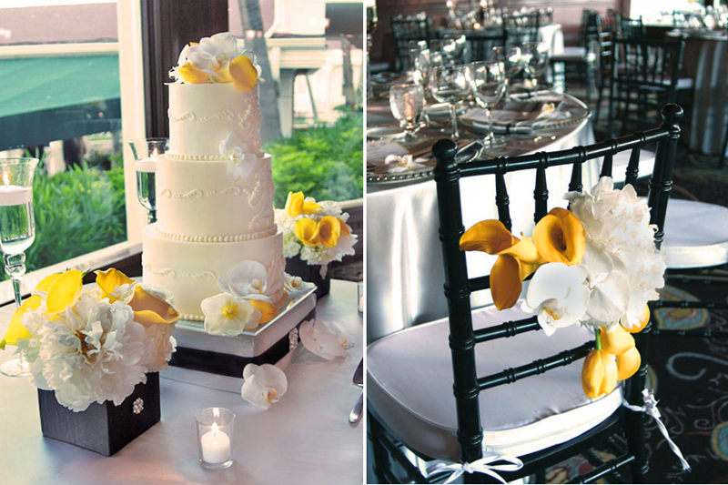 Yellow-white-black-cake-chair-coronet-hotel-del-coronado-wedding.full